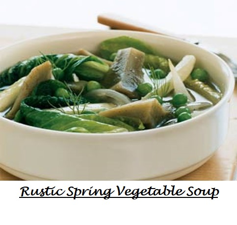 Rustic Spring Vegetable Soup labeled